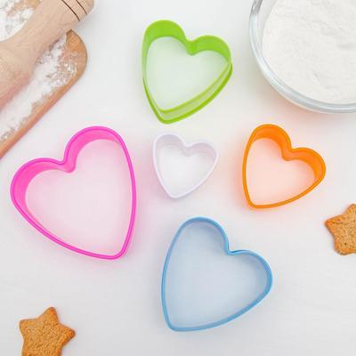 Набор форм для печенья Доляна «Сердце», 5 шт, цвет МИКС - Фото 1