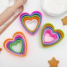Набор форм для печенья Доляна «Сердце», 5 шт, цвет МИКС - Фото 5
