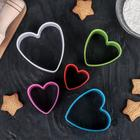 Набор форм для печенья Доляна «Сердце», 5 шт, цвет МИКС - Фото 7