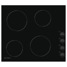 Варочная поверхность Indesit RI 860 C, электрическая, 4 конфорки,  черный