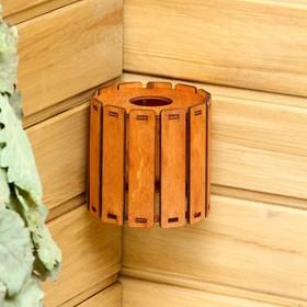 Плафон деревянный 'Броня', коричневый, 10*10*10см Ош