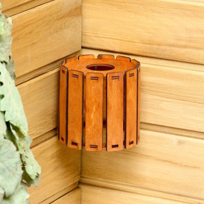 """Плафон деревянный """"Броня"""", коричневый, 10*10*10см"""