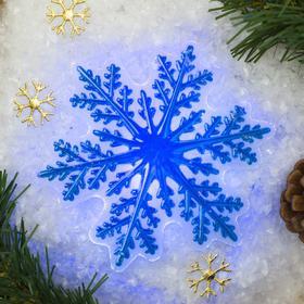 Световая картинка на прищепке 'Снежинка'(батарейки в комплекте), оптоволокно, 1 LED, RGB Ош