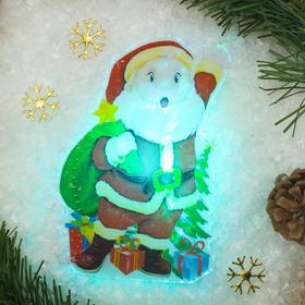 Световая картинка на магните 'Дед Мороз приветствует!'(батарейки в комплекте), 1 LED, RGB Ош