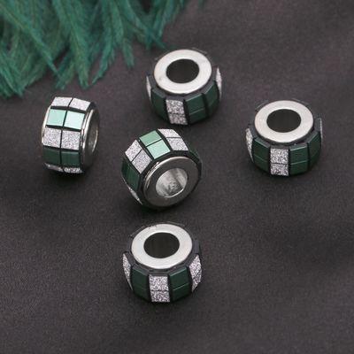 """Разделитель """"Кубики блестящие"""", цвет зелёный"""