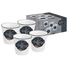 """Набор из четырех чашек для кофе """"Кухня в стиле Ретро"""", в подарочной упаковке, 100 мл"""