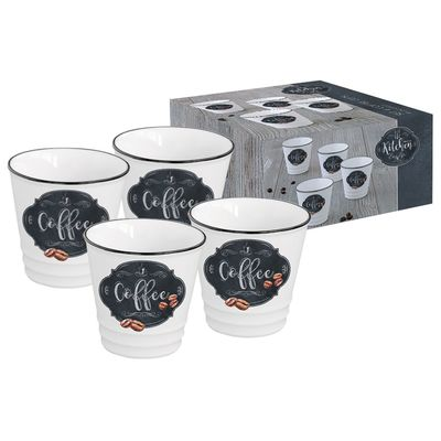 Набор из четырех чашек для кофе «Кухня в стиле Ретро», 100 мл