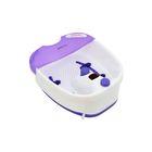 Гидромассажная ванночка для ног Polaris PMB1006, 110 Вт, белая/фиолетовая