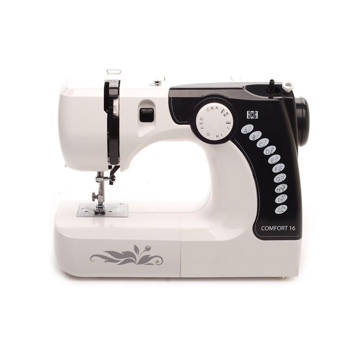 Швейная машина Comfort 16, 70 Вт, 12 операций, полуавтомат, бело-чёрная