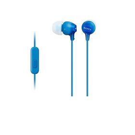 Наушники с микрофоном Sony MDREX15APLI.CE7, вкладыши, в ушной раковине, провод 1.2м, голубые