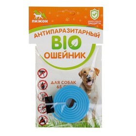 Биоошейник антипаразитарный 'ПИЖОН' для собак от блох и клещей, синий, 65 см Ош