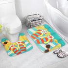 Набор ковриков для ванны и туалета «Пляжный отдых», 2 шт: 39×39, 39×59 см