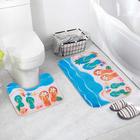 Набор ковриков для ванны и туалета «Пляжное настроение», 2 шт: 39×39, 39×59 см