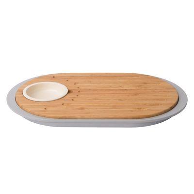 Набор 2 предмета для острой закуски с разделочной доской-подносом 39х23х2,5см Leo