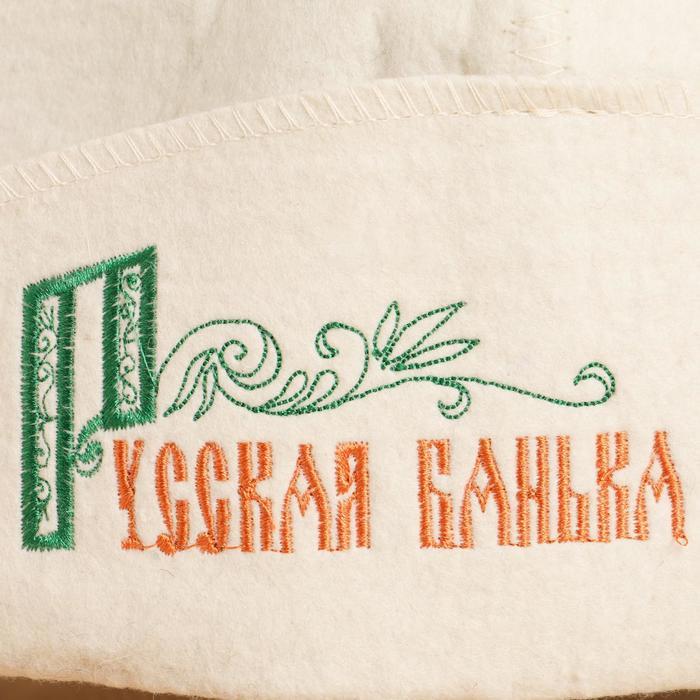 """Банная шляпа """"Русская банька"""""""