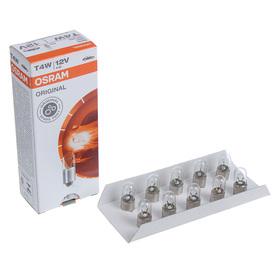 Лампа автомобильная Osram, T4W, 12 В, 4 Вт, BA9s