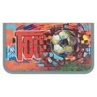 Пенал 1 секция «Футбол (граффити)», 115 х 205 мм, 3D объёмный рисунок