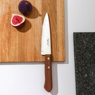 Нож поварской Tramontina Universal, лезвие 15 см, сталь AISI 420, деревянная рукоять