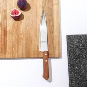 Нож поварской Tramontina Universal, лезвие 20 см, сталь AISI 420, деревянная рукоять