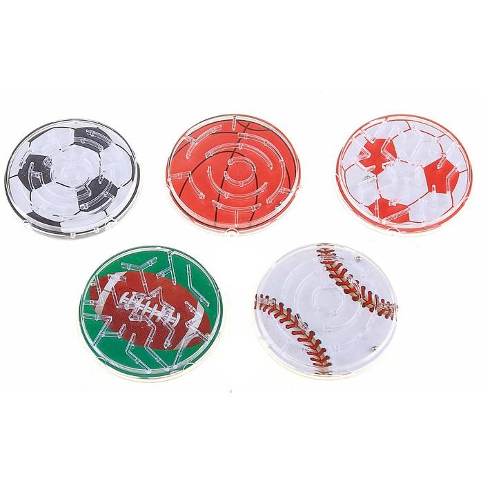 Головоломка Спортивные мячи, цвета МИКС