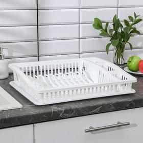 Сушилка для посуды «Степ», 46×36×10 см, цвет МИКС