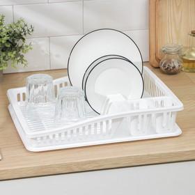 Сушилка для посуды DDSTYLE «Степ», 38×31×8 см, цвет МИКС