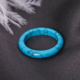 Кольцо гладкое 'Бирюза' 6 мм Ош