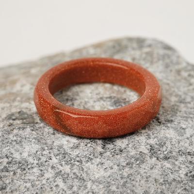 """Кольцо гранёное """"Авантюрин коричневый"""" 6мм"""