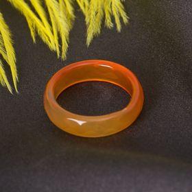Кольцо гранёное 'Сердолик' 6мм, размер МИКС (17-20) Ош