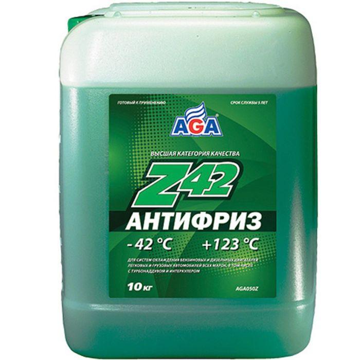 Антифриз AGA зеленый -42С/+123С готовый 10л