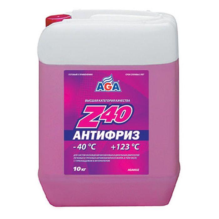Антифриз AGA красный -40С/+123С готовый 10л