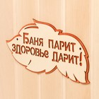 """Табличка 2-слойная """"Баня парит здоровье дарит"""", 30х16см"""