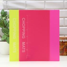 Набор досок разделочных гибких с разлиновкой Доляна, 37×30 см, 2 шт, цвет МИКС