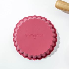 Форма для выпечки «Рифлёный круг», 11×2,5 см, цвет МИКС