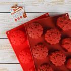 Форма для выпечки Доляна «Снежинка», 30×17,5 см, 11 ячеек, цвет МИКС - Фото 6