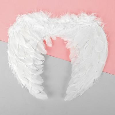 Крылья ангела, на резинке, цвет белый - Фото 1