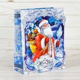 Пакет ламинированный с открыткой «Новогодний лес», 18 × 23 × 8 см Ош