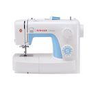 Швейная машина Singer Simple 3221, 85 Вт, 23 операции, автомат, реверс, бело-голубая