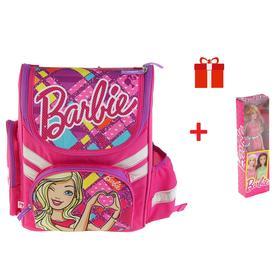 Ранец Стандарт Barbie 35 х 26.5 х 13, для девочки, EVA-спинка, подарок-кукла