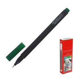 Ручка капиллярная Faber-Castell GRIP линер 0.4 мм зелёный Ош