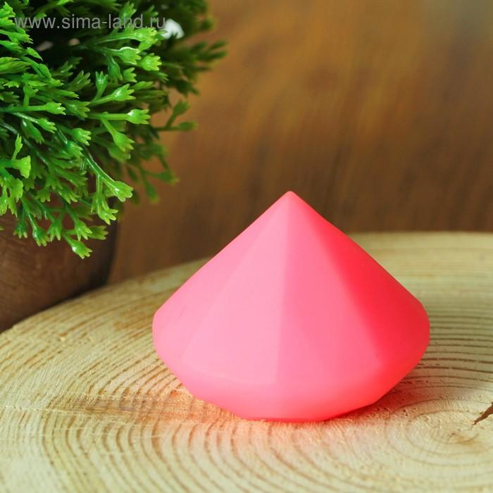"""Свеча светодиодная """"Конус"""" с датчиком прикосновения с водой, цвет розовый"""