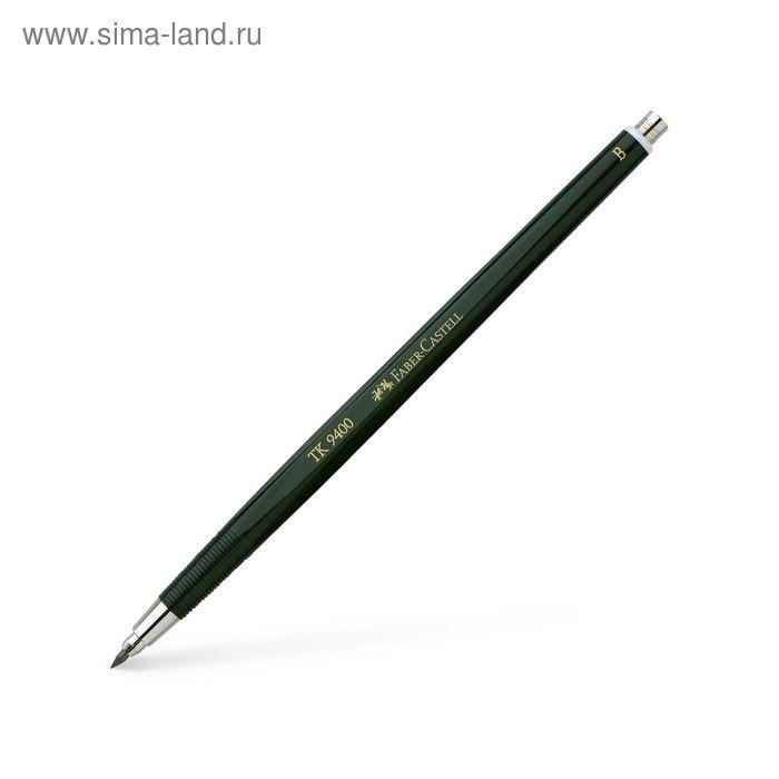 Карандаш цанговый 2.0 мм Faber-Castell TK® 9400 B зелёный