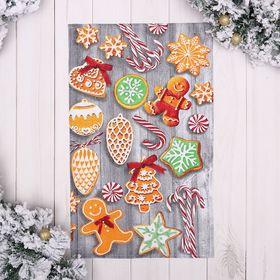 """Полотенце """"Новогоднее печенье"""" 35х60 см,100% хлопок 160 г/м2"""