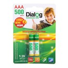 Аккумулятор Dialog, Ni-Mh, AAA, HR03-2BL, 1.2В, 500 мАч, блистер, 2 шт.