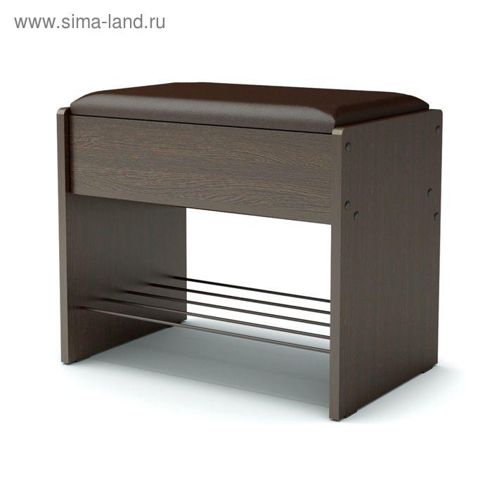Банкетка 532х355х466 венге/кож.зам.коричневый