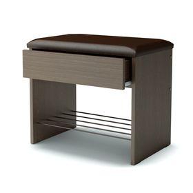 Банкетка с ящиком 550х350х466 венге/искусственная кожа, коричневый Ош