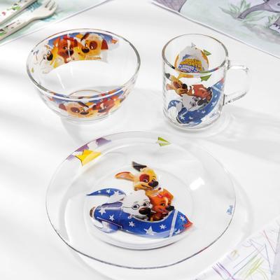 Набор посуды «Озорная семейка на ракете», 3 предмета - Фото 1