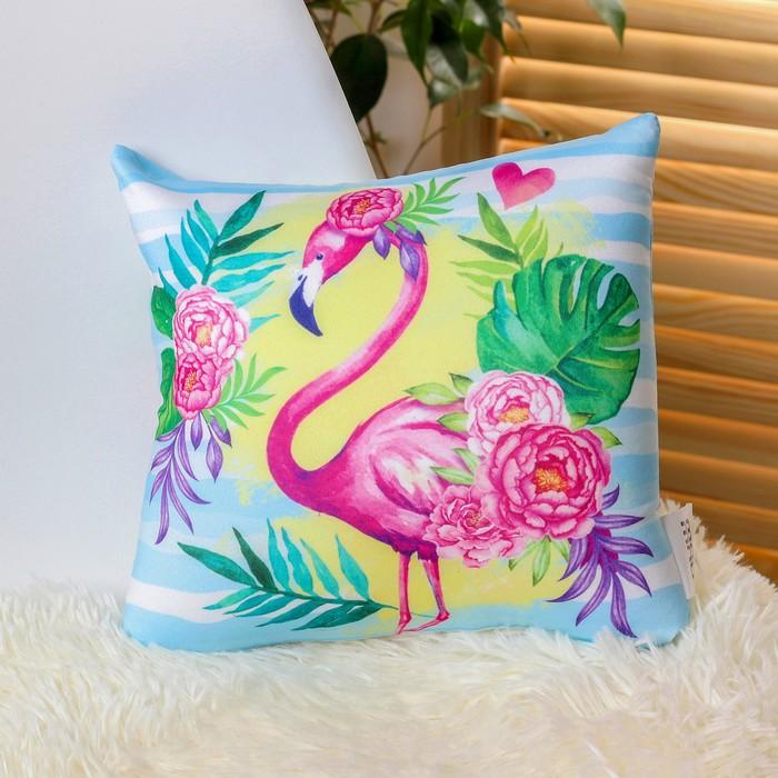 Подушка-антистресс Фламинго 23х23 см
