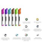 Набор маркеров для доски, 6 цветов, 3.0 мм, KORES, 20802