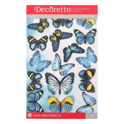 """Наклейки Decoretto """"Бабочки """"Небесная лазурь"""" 25х35 см"""